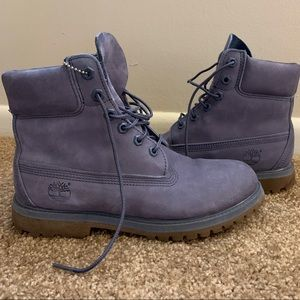 Timberland gray-blue 6 in boots